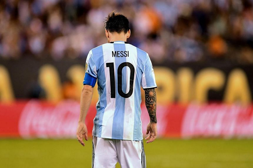 Messi left the field in tears after missing his spot kick in Sunday's Copa America final shoot-out against Chile.