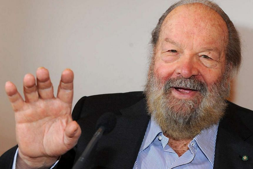 Bud Spencer (in a file picture taken in 2011) was a swimming star in Italy who had taken part in the Olympics.