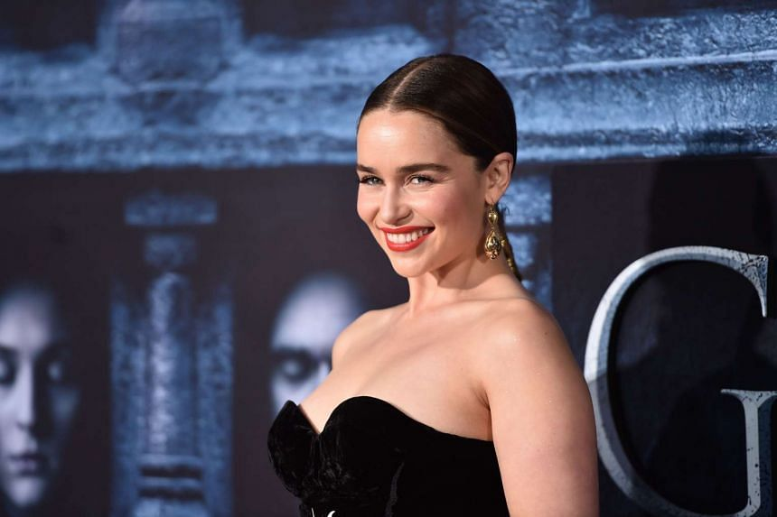 Actress Emilia Clarke attends the Game Of Thrones season six premiere in Hollywood in April 2016.