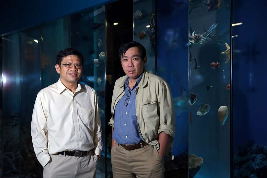 National Research Foundation's director of programmes George Loh (left) and programme director of the marine science R&D programme Peter Ng.