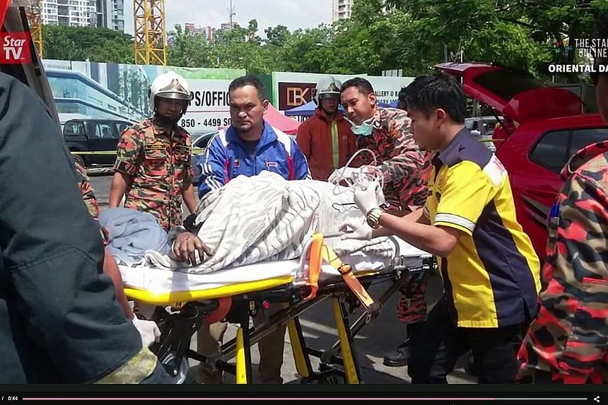 Ms T. Sarishna, 23, suffered burns on more than 60 per cent of her body, and remained in an unstable condition yesterday. It is unclear what sparked the fire.