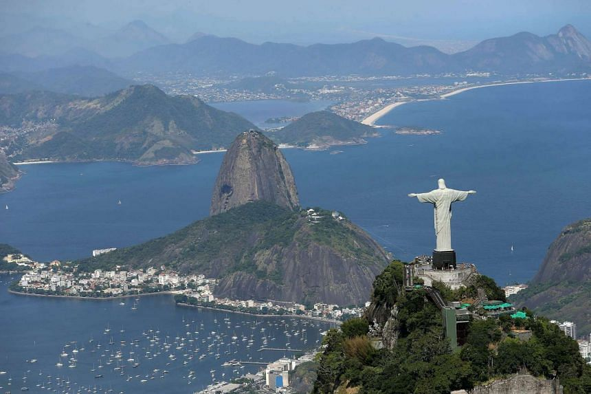 A file photo showing an aerial view of the Christ the Redeemer statue overlooking Rio de Janairo, Brazil.