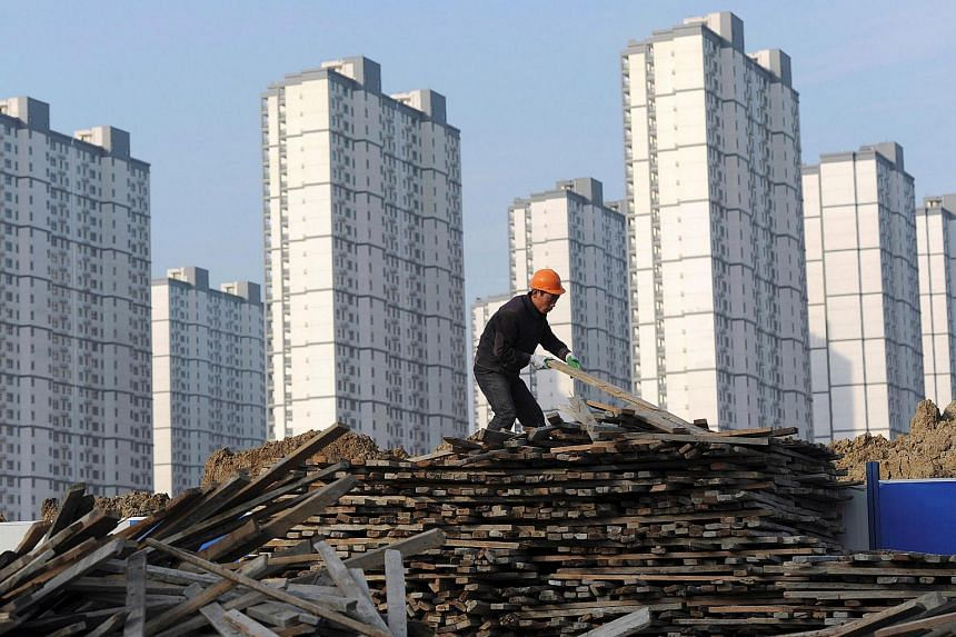 A labourer at a residential construction site in Hefei, Anhui province, in 2012.