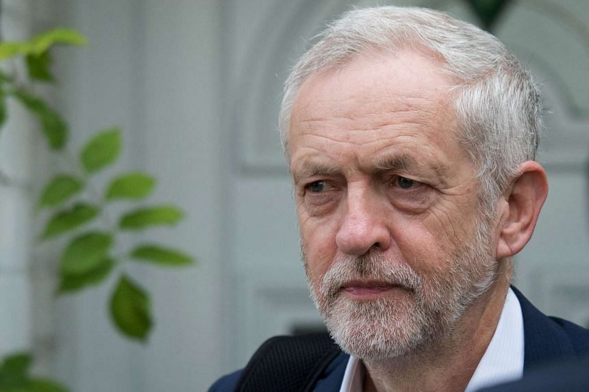 British opposition Labour Leader Jeremy Corbyn leaves his home in London on June 29, 2016.