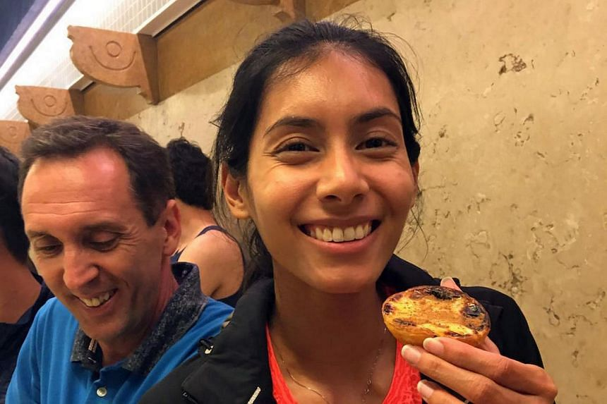 National runner Dipna Lim-Prasad (right) with her coach Luis Cunha at the San Antonio International Meet in Portugal.