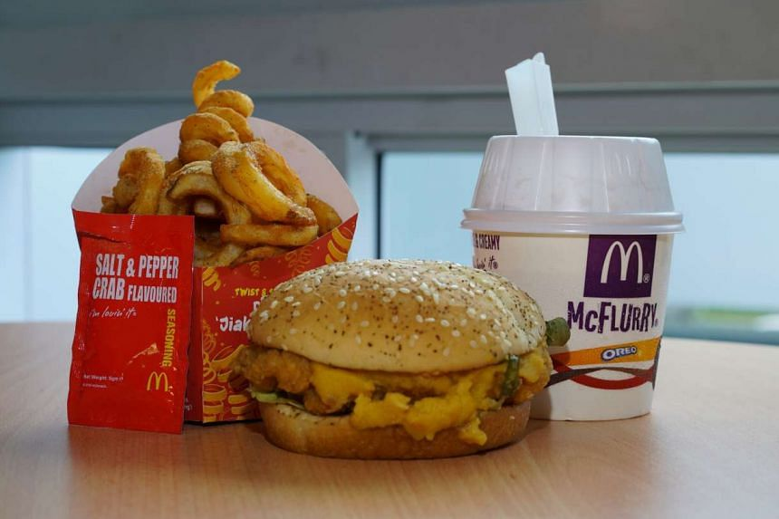 McDonald's has added a new local twist to their menu with he new Salted Egg Yolk Chicken Burger, Twist & Shake Fries and delicious Gula Melaka McFlurry.