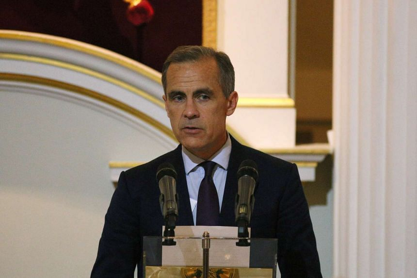 Governor of the Bank of England Mark Carney delivers a speech before the Dinner to the Bankers and Merchants at The Mansion House in London, on June 16, 2016.