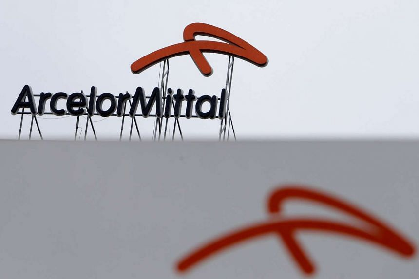 A logo of ArcelorMittal at its steelworks headquarters in Ostrava, Czech Republic, on April 1, 2016.