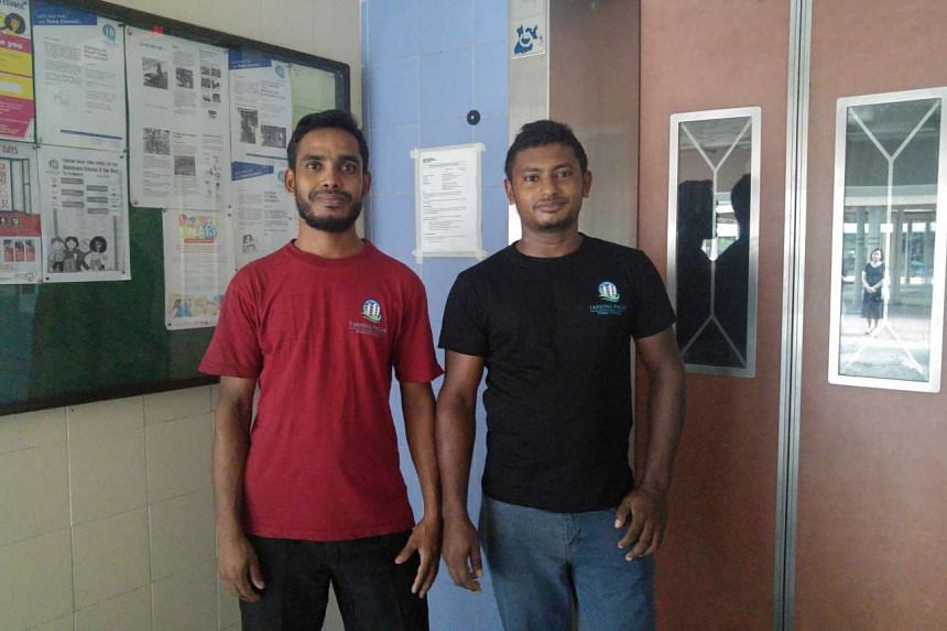 Mr Howlander Sentu (right), 26, and Mr Nurul Islam Mannan Miah, 30, found $45,000 worth of jewellery which was accidentally discarded by a Queenstown resident and returned it to the owner.