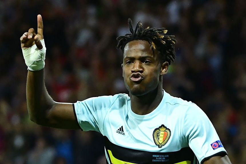 New Chelsea signing Michy Batshuayi opened his account for Belgium with a tap-in against Hungary, minutes after coming on.
