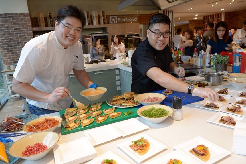 Chefs at the festival include Jeremy Cheok and Tan Huang Ming (above, from left).