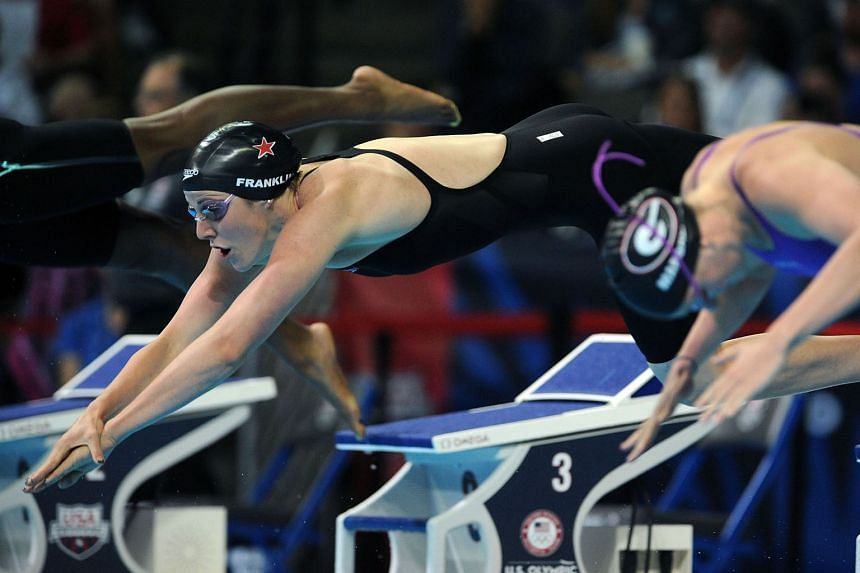 Missy Franklin of the United States competing in a heat of the women's 200m freestyle during the US Olympic trials on Tuesday. Franklin, who won four gold medals at the 2012 London Olympics, has not yet made the team for Rio.