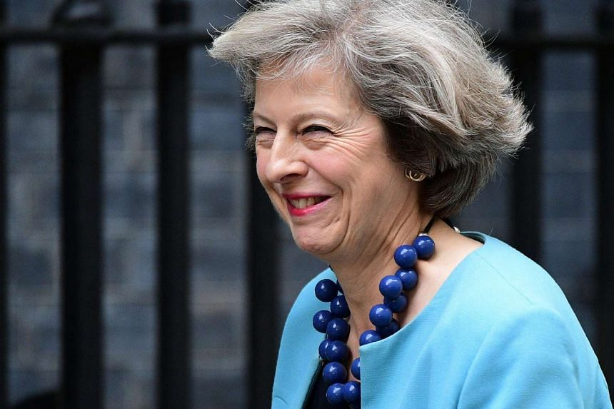 British Interior Minister Theresa May arriving to attend a Cabinet meeting at 10 Downing Street in London on June 27.