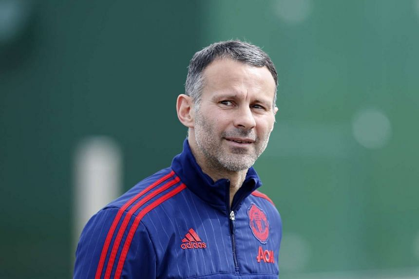 Manchester United assistant manager Ryan Giggs at a training for the FA Cup Final Preview on May 19, 2016.