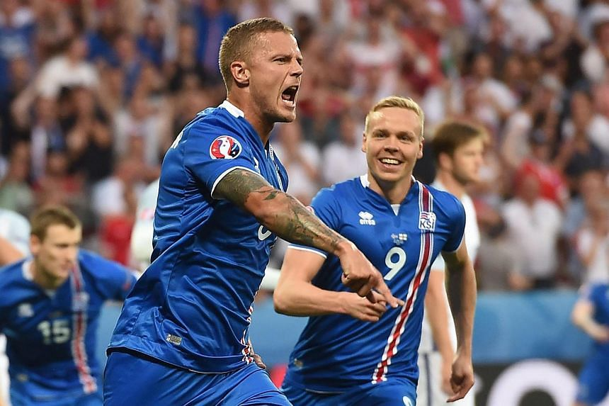 Iceland's defender Ragnar Sigurdsson during the Euro 2016 match between England and Iceland in Nice on June 27.