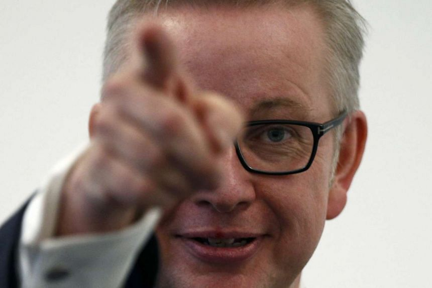 Michael Gove announces his bid to become Conservative Party leader, in London, Britain July 1, 2016.