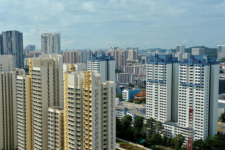 A view of the housing estates in Singapore.