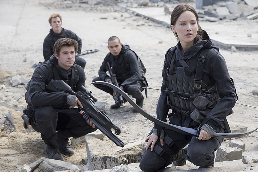 A movie still from The Hunger Games, which is produced by Hollywood studio Lionsgate.