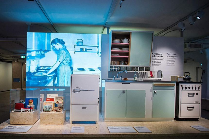 A kitchen interior is pictured at the Ikea Museum in Almhult, Sweden, on June 14.