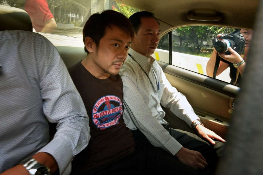 Former China tour guide Yang Yin in a police car on Nov 5, 2014.