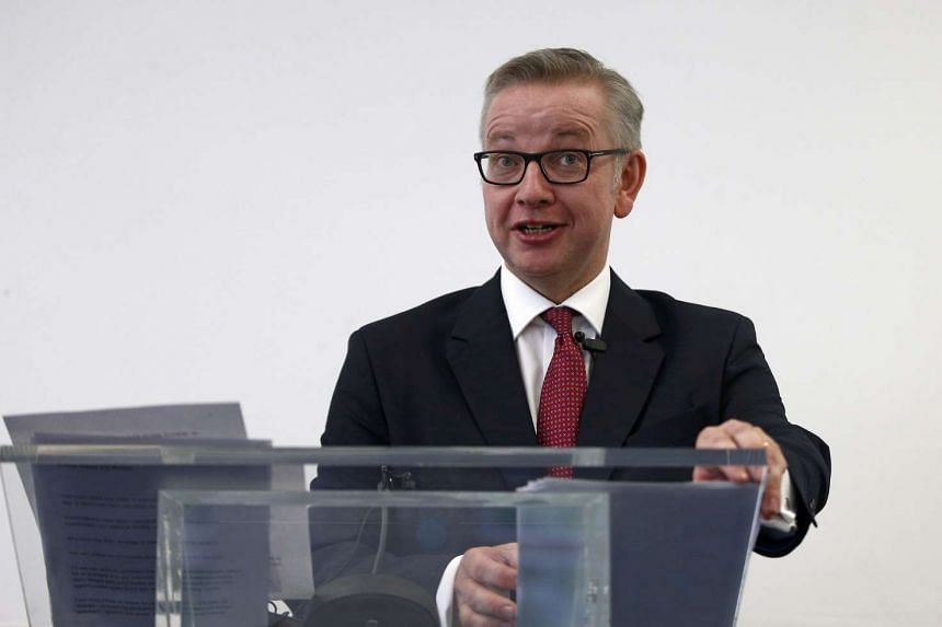 Britain's Justice Secretary Michael Gove delivers a speech in London, on July 1, 2016.