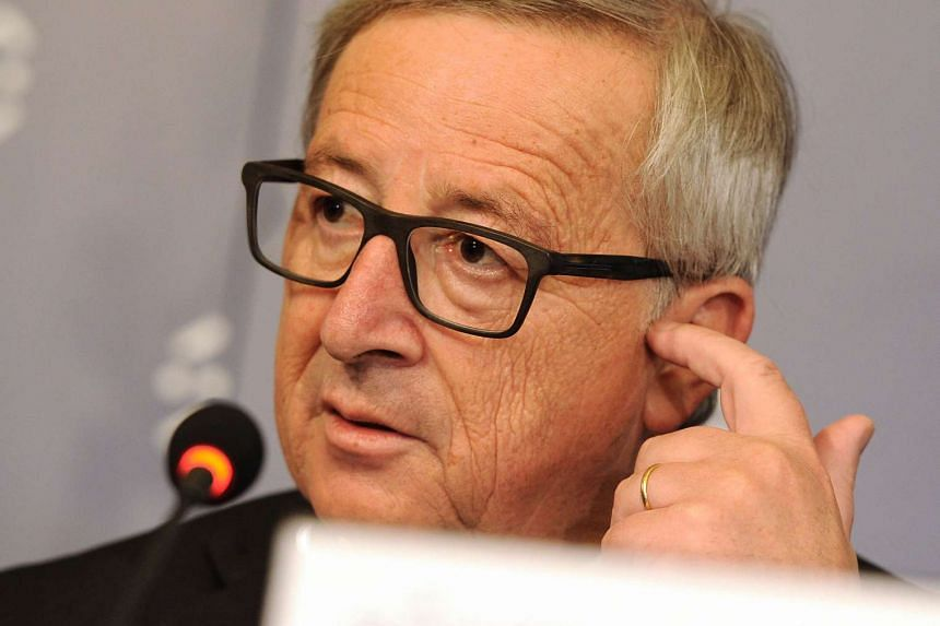 Juncker at a press conference in Bratislava, on July 1, 2016.