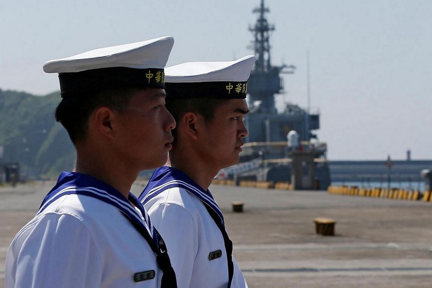 Taiwanese navy personnel at Suao Naval Base in Yilan on June 4.