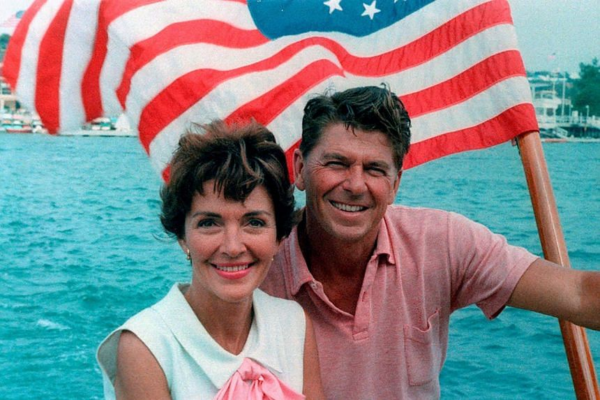 The Reagans aboard a boat in a 1964 photo courtesy of the Ronald Reagan Presidential Foundation.