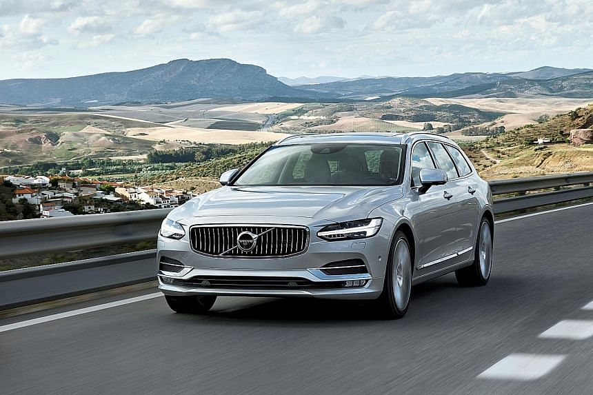 The Volvo V90 is packed with high-tech displays and safety features.