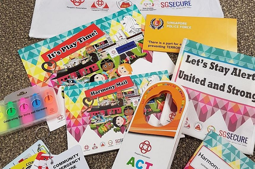 Harmony Packs for the block parties will contain fun items like postcards and notes with which to greet neighbours on special festivals, as well as useful guides on community emergency information and terrorism.