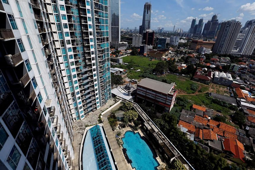 An aerial view from an empty apartment unit at a luxurious condominium in Jakarta. The government has in the past repeatedly tried to move forward and set regulations to allow foreigners to own apartments in South-east Asia's biggest economy.
