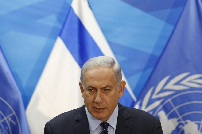 Israeli PM Benjamin Netanyahu speaks during a joint press conference with the UN secretary general in Jerusalem on June 28.