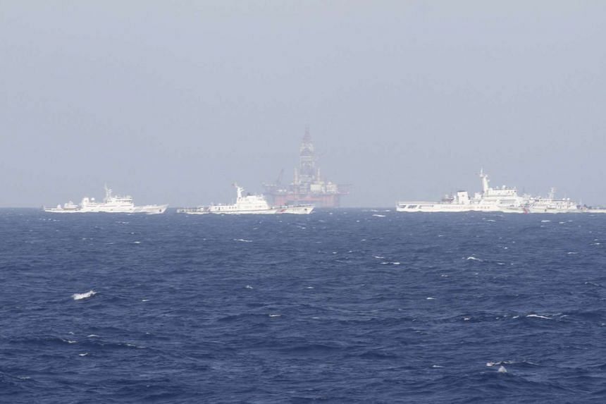 An oil rig which China calls Haiyang Shiyou 981, and Vietnam refers to as Hai Duong 981, in the South China Sea, off the shore of Vietnam on May 14, 2014.