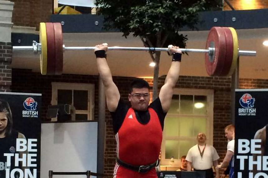 National weightlifter Scott Wong at the Nottingham Open in 2014.