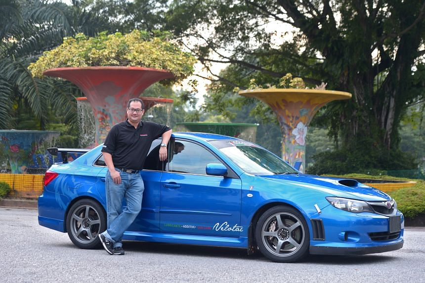 To make his Subaru WRX race-worthy, Mr Tan Wah Kum has upgraded its suspension, brakes, turbo/ intercooler and electronic control unit.