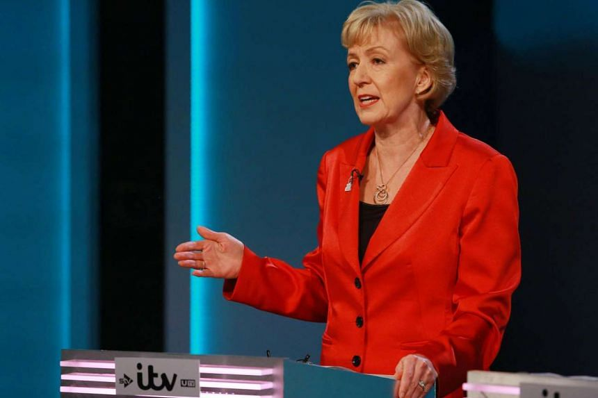 Energy Minister Andrea Leadsom speaking during a debate at the London Television Centre on June 9, 2016.