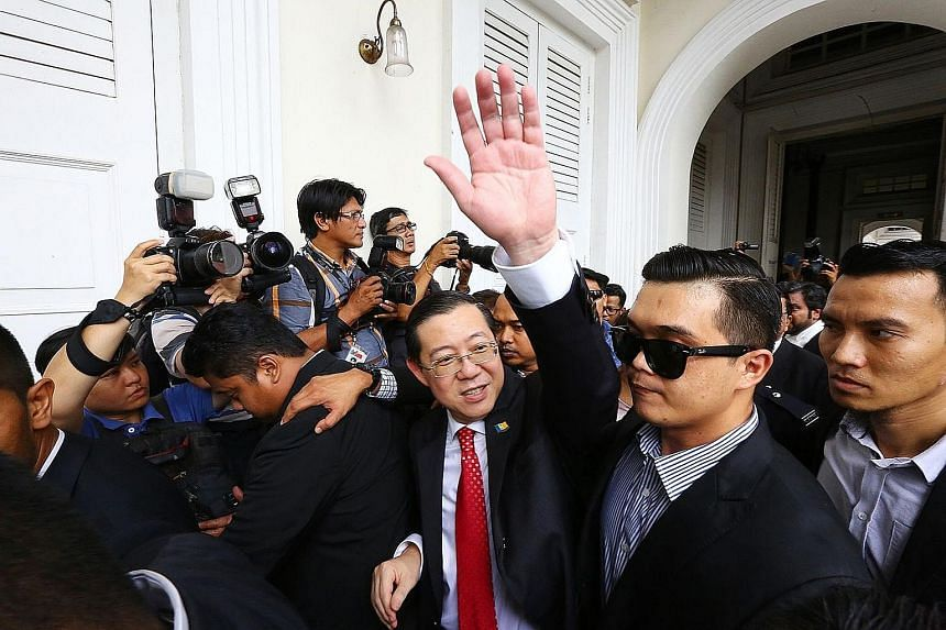 Lim outside the high court in George Town, Penang, last week. The corruption charges against him include the abuse of power to purchase a bungalow at below market price.