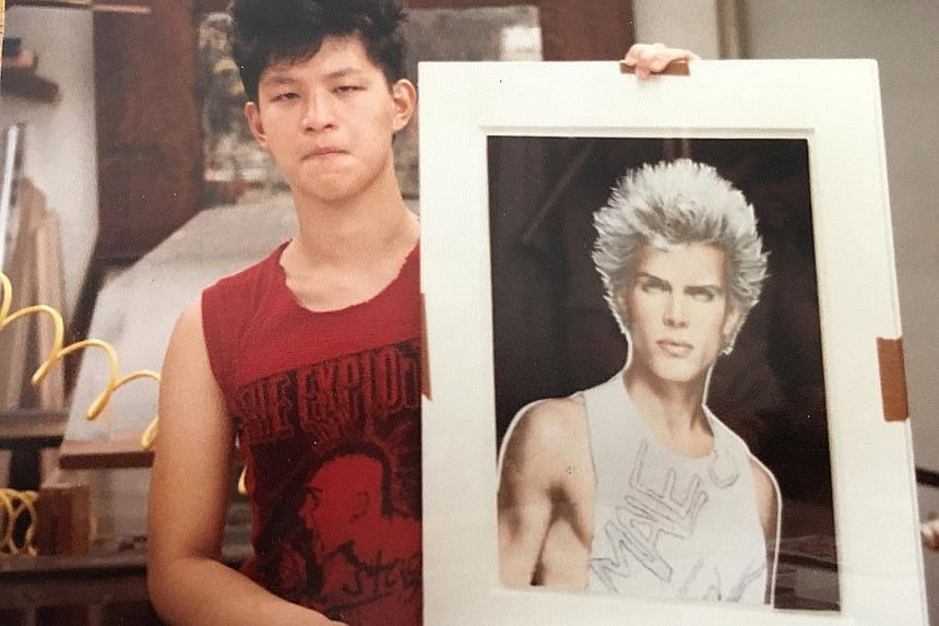 "Mr Koh wanted to be a ""bad boy"" in his teen days, and is seen here with a painting of British punk rock musician Billy Idol. Befitting the founder of The Rake, Mr Koh is pictured with Domenico Dolce of Italian fashion house Dolce&Gabbana. Mr Wei Koh"