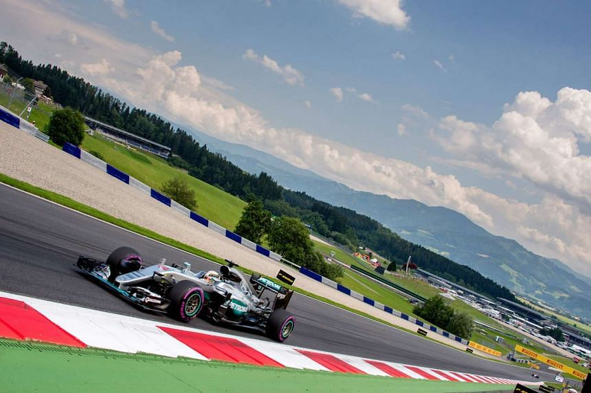 Lewis Hamilton drives during the qualifying session in Austria.