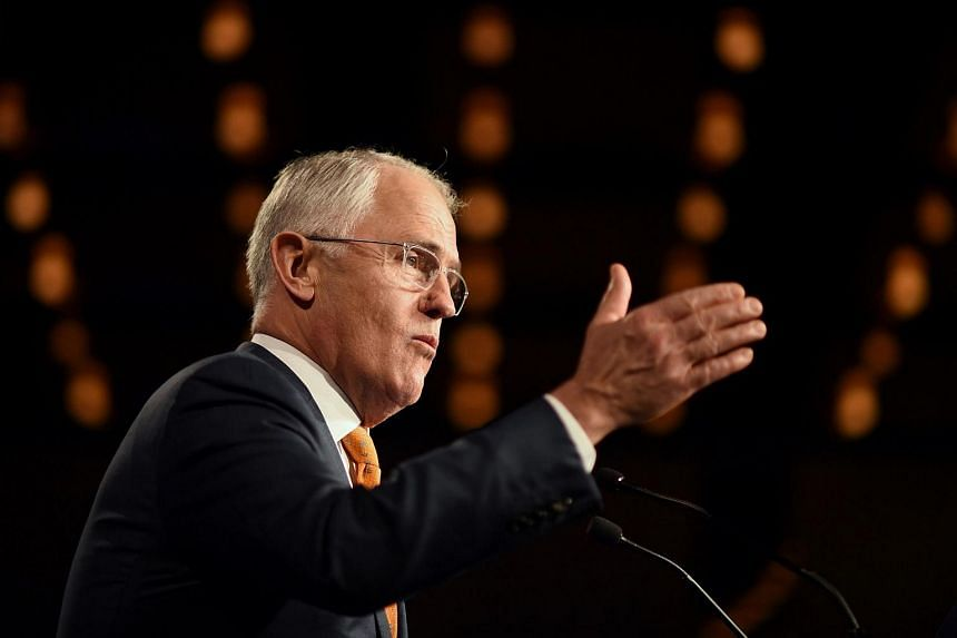 Australian Prime Minister Malcolm Turnbull speaks to the party faithful at a Liberal Party election night event in Sydney on July 3, 2016.