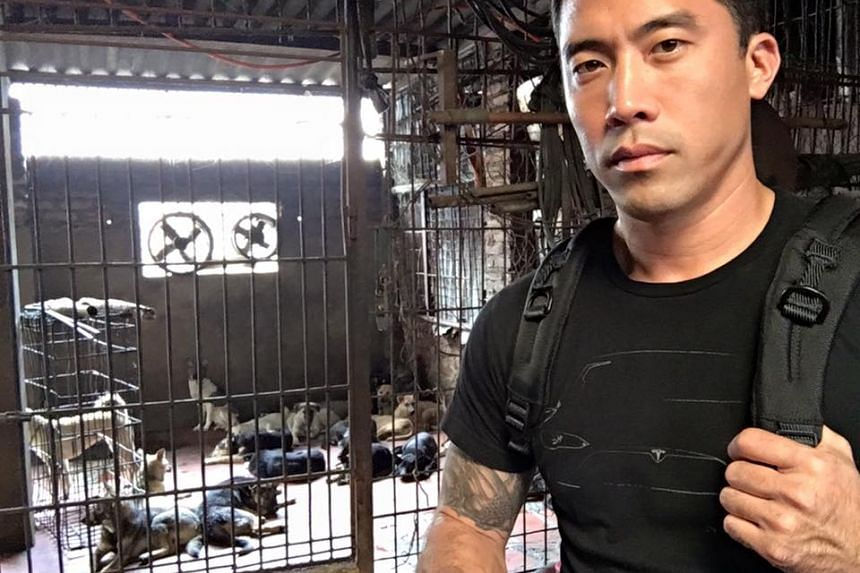 Mr Marc Ching at a slaughterhouse in Vietnam.