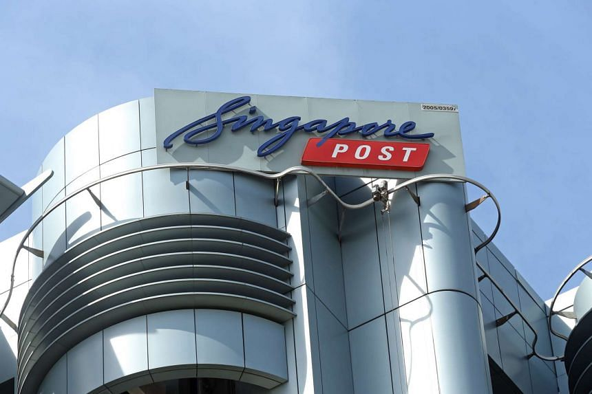 The exterior facade of the Singapore Post (SingPost) building in Paya Lebar.