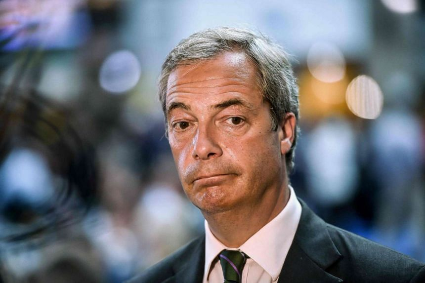 Leader of the UKIP Nigel Farage looks on during an EU summit meeting on June 28, 2016, at the EU headquarters in Brussels.