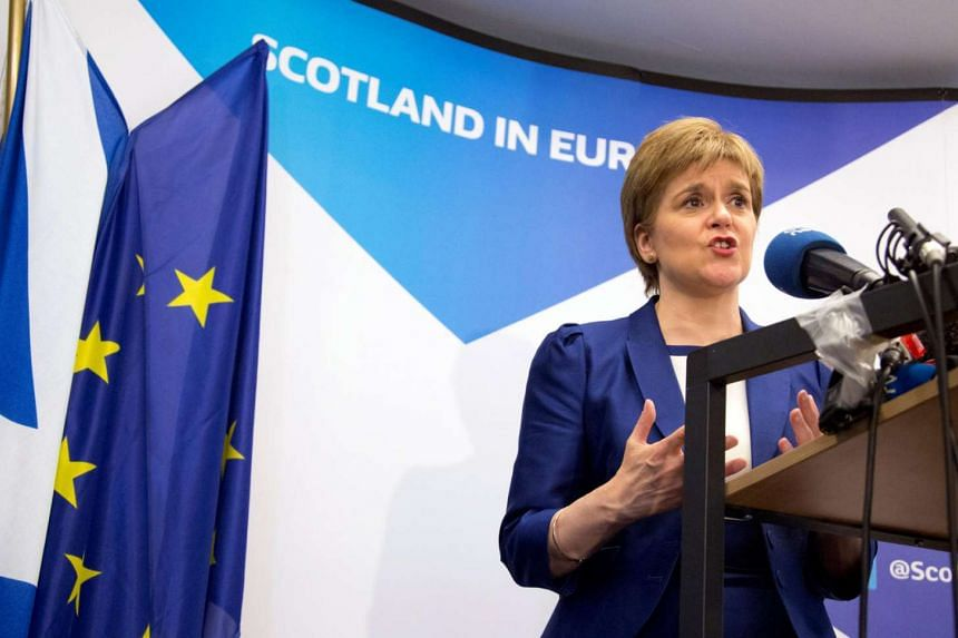 Scotland's First Minister Nicola Sturgeon addresses a news conference in Brussels on June 29, 2016.