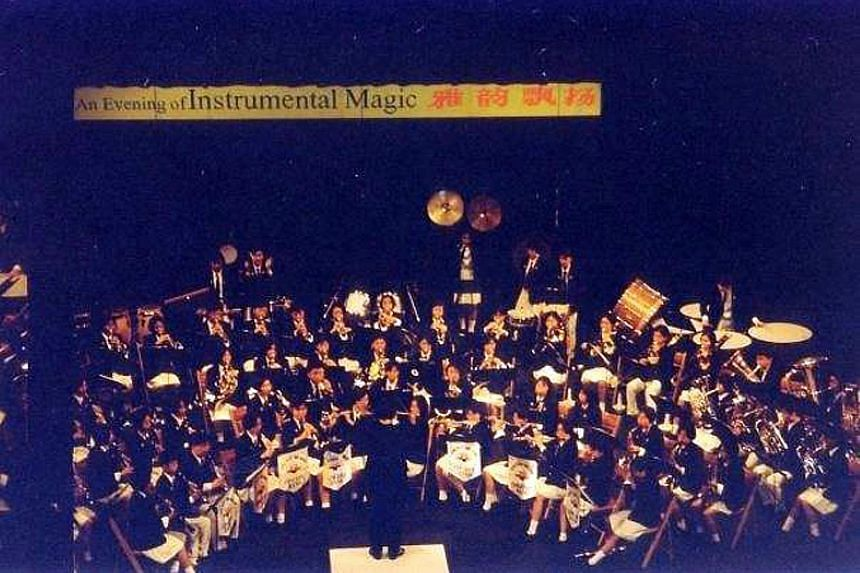 River Valley High School Band performing at the Singapore Youth Festival in 1997.