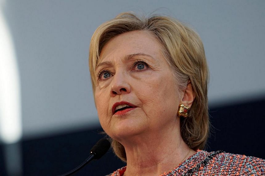 US Democratic presidential candidate Hillary Clinton speaks at Galvanize, a learning community for technology.