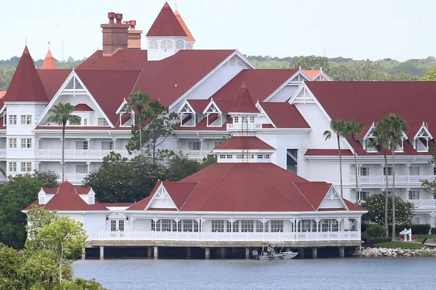 Search and recovery operations being carried out at Seven Seas lagoon, a section of Disney's Grand Floridian Resort & Spa after Lane Graves was attacked by an alligator.