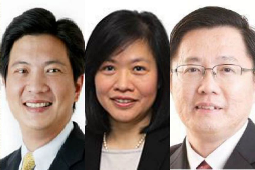 (Left to right) Mr Yeoh Oon Jin, Ms Lock Yin Mei and Mr Ho Chee Pong have been appointed to the board of the Singapore Land Authority.