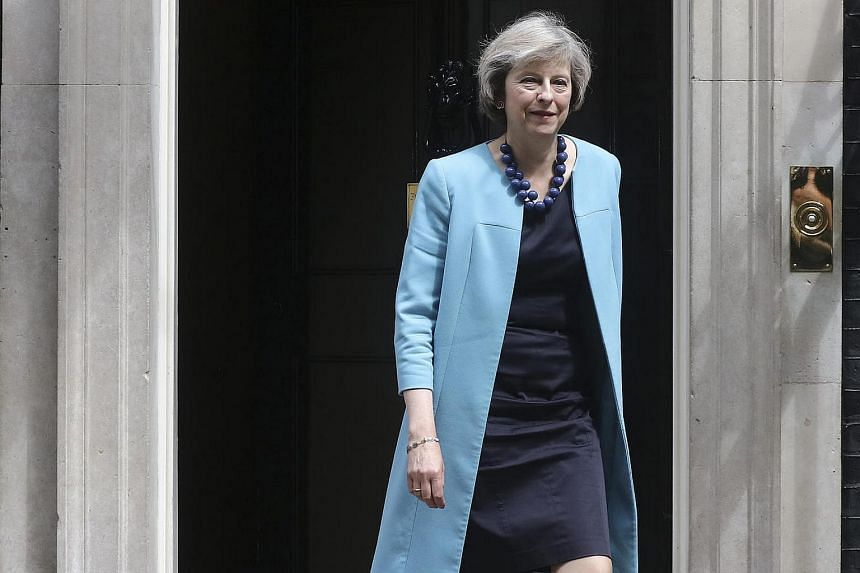 Theresa May, UK home secretary, leaves a cabinet meeting in 10 Downing Street in London, UK, on June 27.