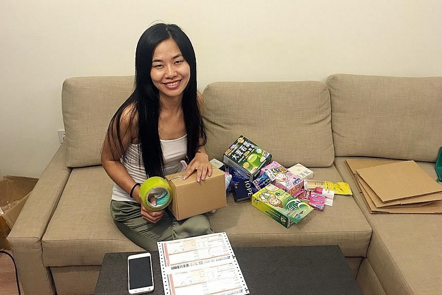 Ms Zhao Xu, 27, has a full-time job as a property agent. To supplement her income, she sells medicines and cosmetics procured from Japan via Wechat, a mobile messaging platform, during her spare time. In a good month, she can make between 4,000 yuan